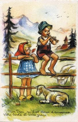 Cartes anciennes de Germaine Bouret
