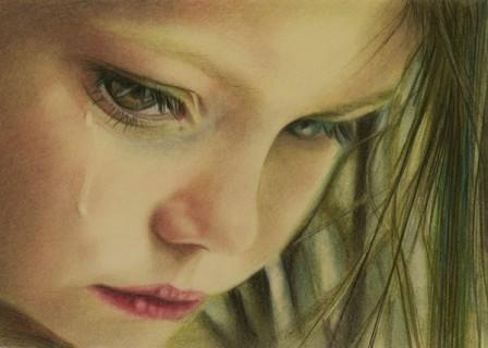 Crying Eye Pencil Drawing