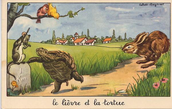 Les plus belles fables de la fontaine page 5 - Dessin du lievre et de la tortue ...