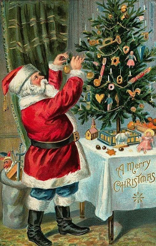 Carte ancienne de Noel
