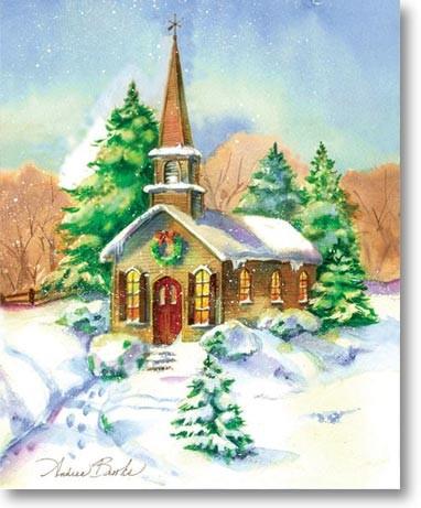 paysages de neige noel en peinture page 3. Black Bedroom Furniture Sets. Home Design Ideas