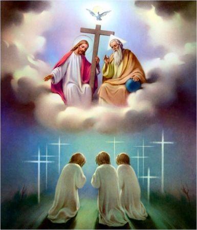 Image pieuse ( Je crois en Dieu)
