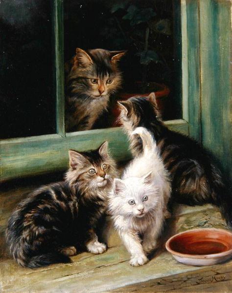 """Résultat de recherche d'images pour """"peintures chat et enfant"""""""