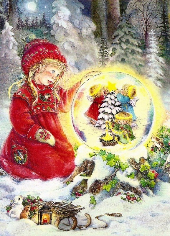 Les images de Noël (Paysages et illustrations féeriques) 3f27eaec