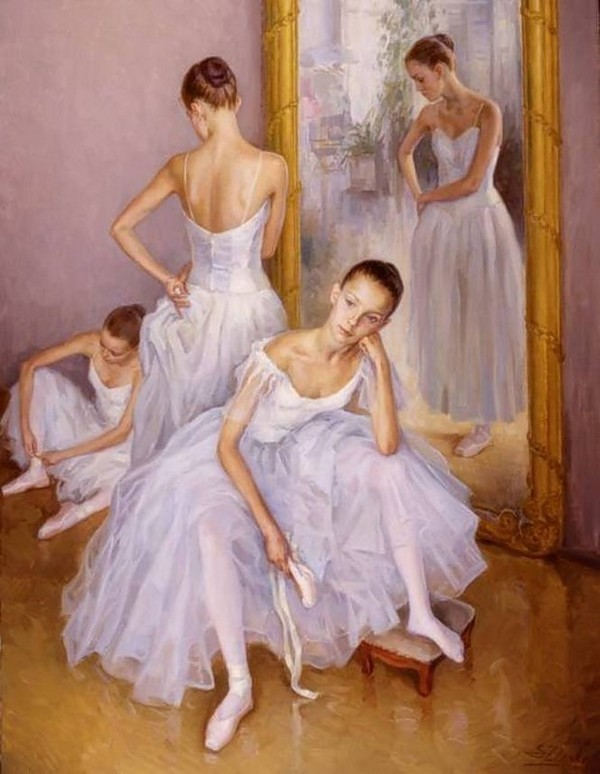 Danseuses en peintures page 6 - Peinture les danseuses ...