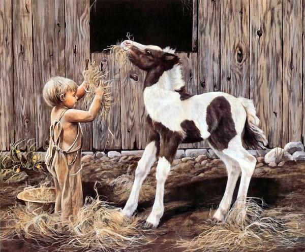 Image - L'enfant et le poulain