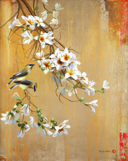 Superbes peintures d'oiseaux