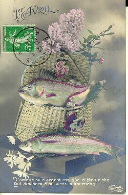 Cartes anciennes( Poisson d'Avril )