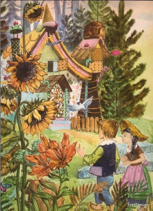 Illustration - Conte des fréres  Grimm