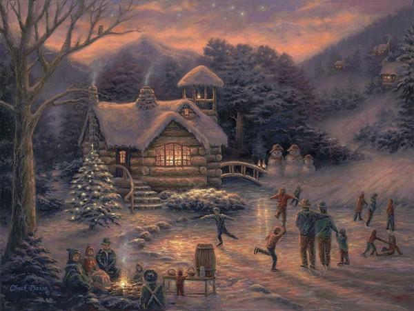 Paysage de neige - Noël