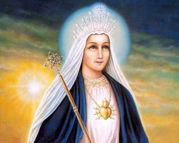 Image pieuse de la vierge Marie