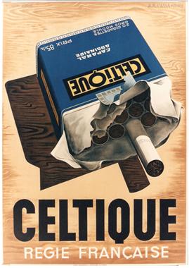 Affiches anciennes cigarettes-briquets