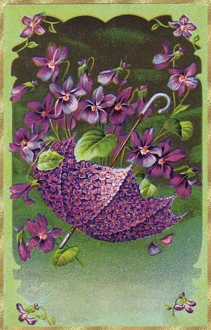 Cartes anciennes de fleurs