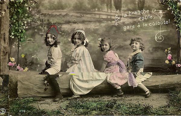 Carte ancienne enfants