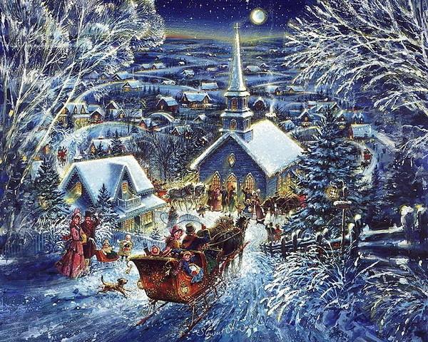 Les images de Noël (Paysages et illustrations féeriques) B408795b
