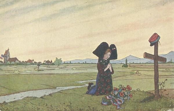 J-J Waltz dit Hansi peintre et dessinateur alsacien