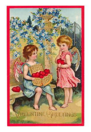 Carte ancienne - Saint Valentin