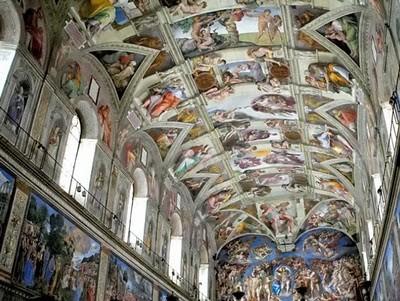 Peintre celebre michelangelo buonarroti - Michel ange chapelle sixtine plafond ...
