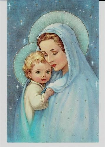 Mary And Jesus Christmas Cards