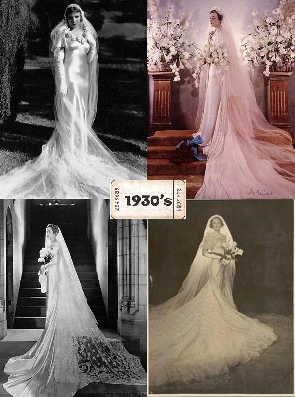 Robe mariage 1930