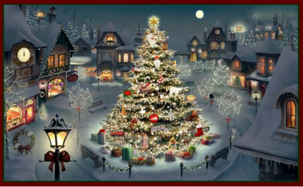 Les images de Noël (Paysages et illustrations féeriques) Ec07825f