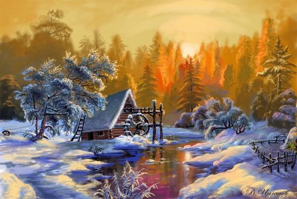 paysages de neige en peinture - Page 19