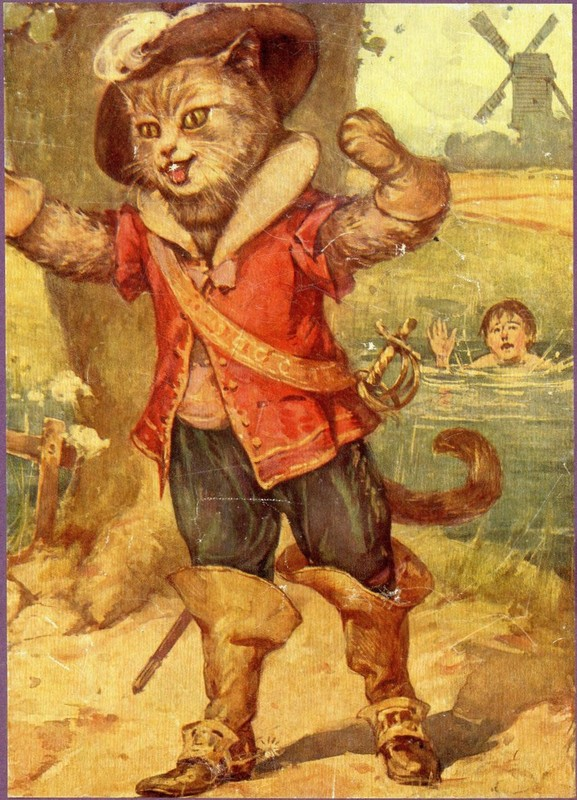Illustration conte de perrault - Dessin chat botte ...