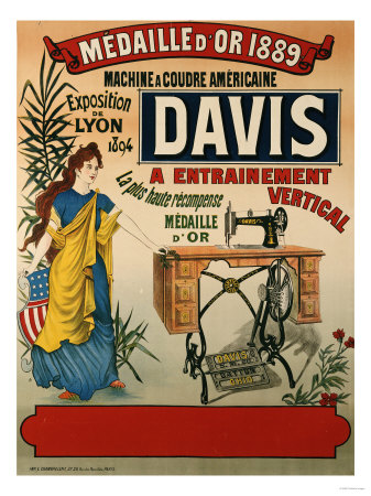 Affiches machines a coudre anciennes