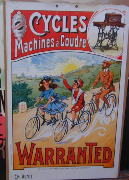affiches machines a coudre