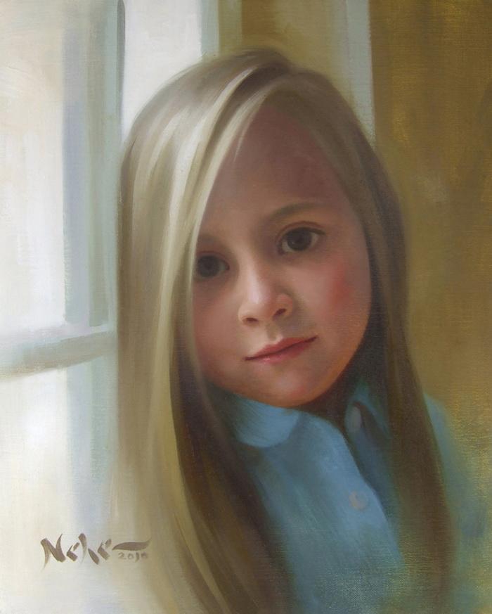 Superbes portraits d 39 enfants en peinture