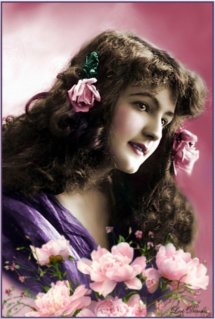 belles images de femme avec fleurs - Page 9