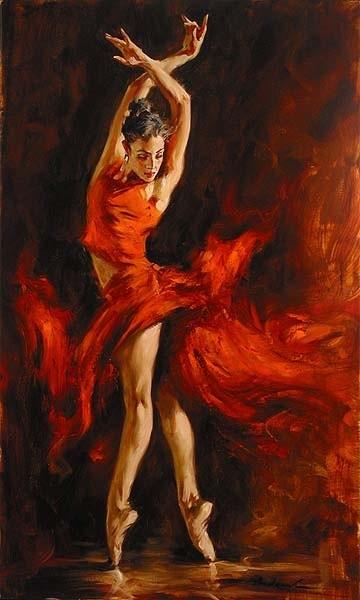 Danseuses en peintures page 7 - Peinture les danseuses ...