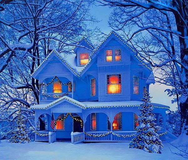 Paysages de neige noel en peinture page 7 - Peinture de noel ...