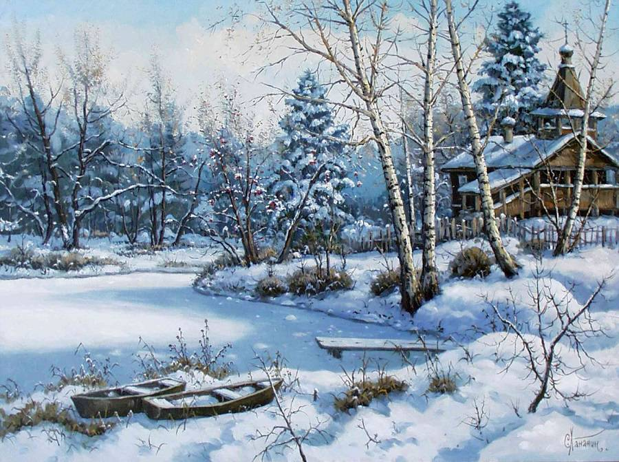 paysages de neige en peinture