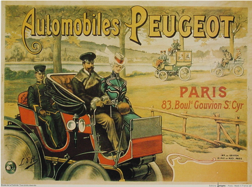 Top affiches anciennes velos voitures AS25