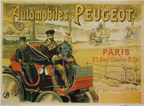 Gut bekannt affiches anciennes velos voitures AB37