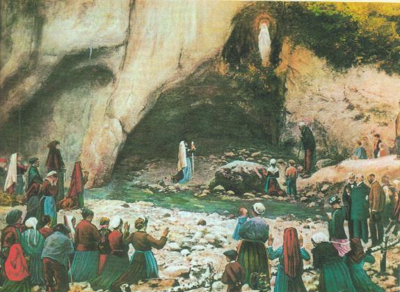 Images pieuses(Les apparitions de Lourdes)